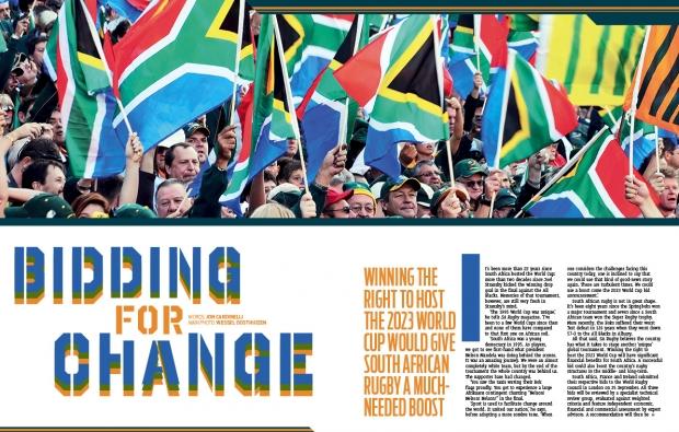 2023 World Cup bid in SA Rugby magazine