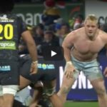 Watch: Koch makes topless tackle