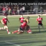 Chop tackle causes knee injury