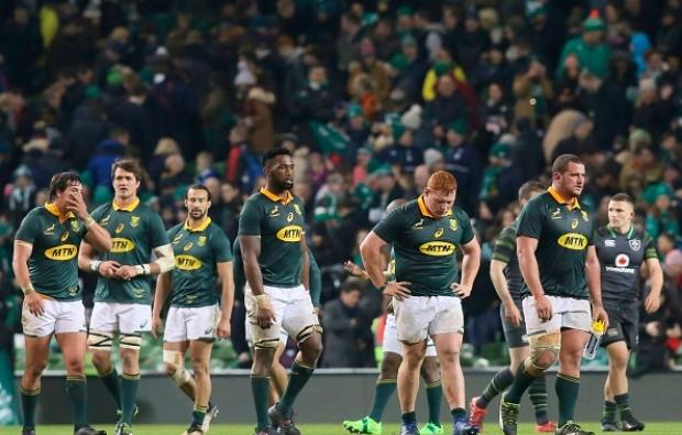 Dejected Springboks