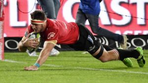 Jaco Kriel scores a try for the Lions