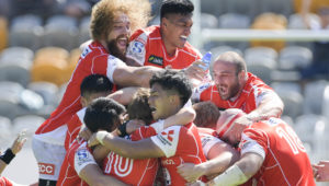 The Sunwolves celebrate