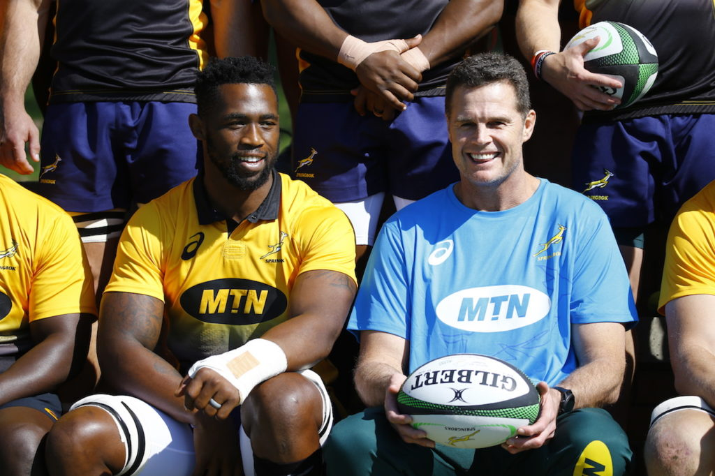 Siya Kolisi and Rassie Erasmus