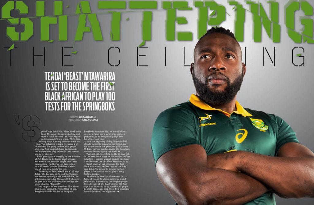 Beast Mtawarira in SA Rugby magazine