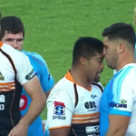 Watch: Brumbies hooker head-butts Bull