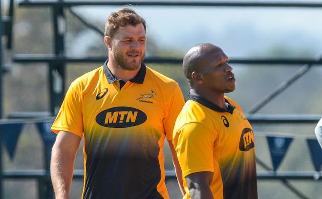 Duane Vermeulen and Bongi Mbonambi