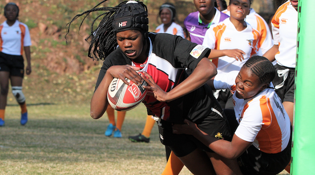 Golden Lions U18 Girls lock Lefa Moloi