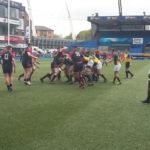 The Junior Springboks maul against Wales