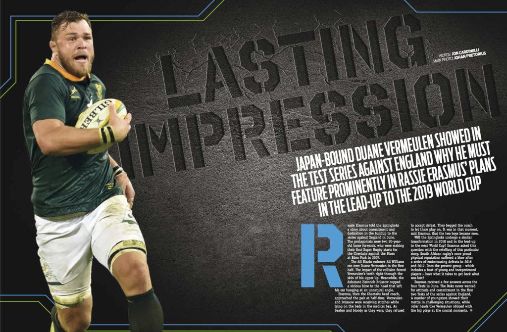 Duane Vermeulen in SA Rugby magazine