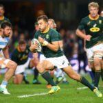 Handré Pollard running/Springboks