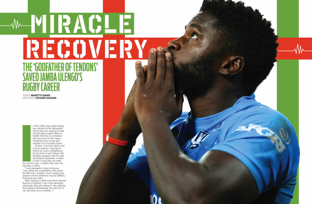 Jamba Ulengo in SA Rugby magazine