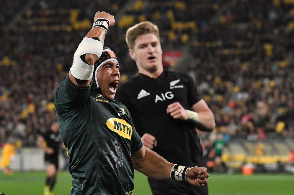 Cheslin Kolbe in a Rugby Championship match