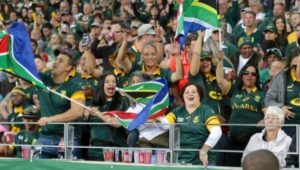 Springboks supporters