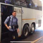 Watch: All Blacks arrive at Joburg hotel