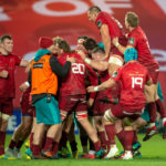 Munster players celebrate