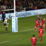 Watch: Bizarre try from missed penalty