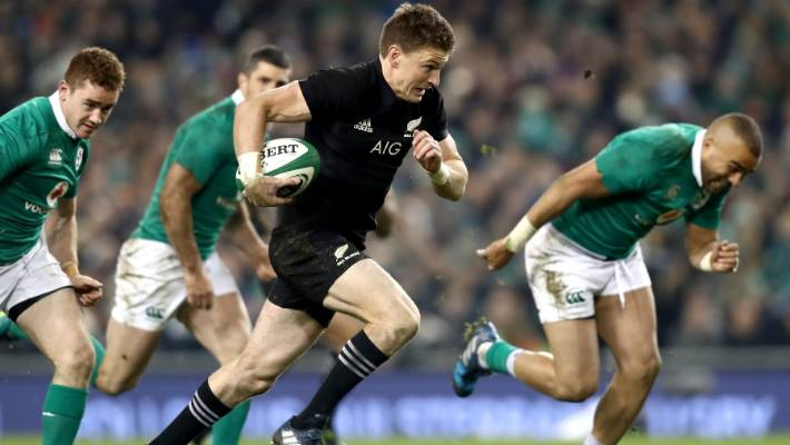 All Blacks flyhalf Beauden Barrett
