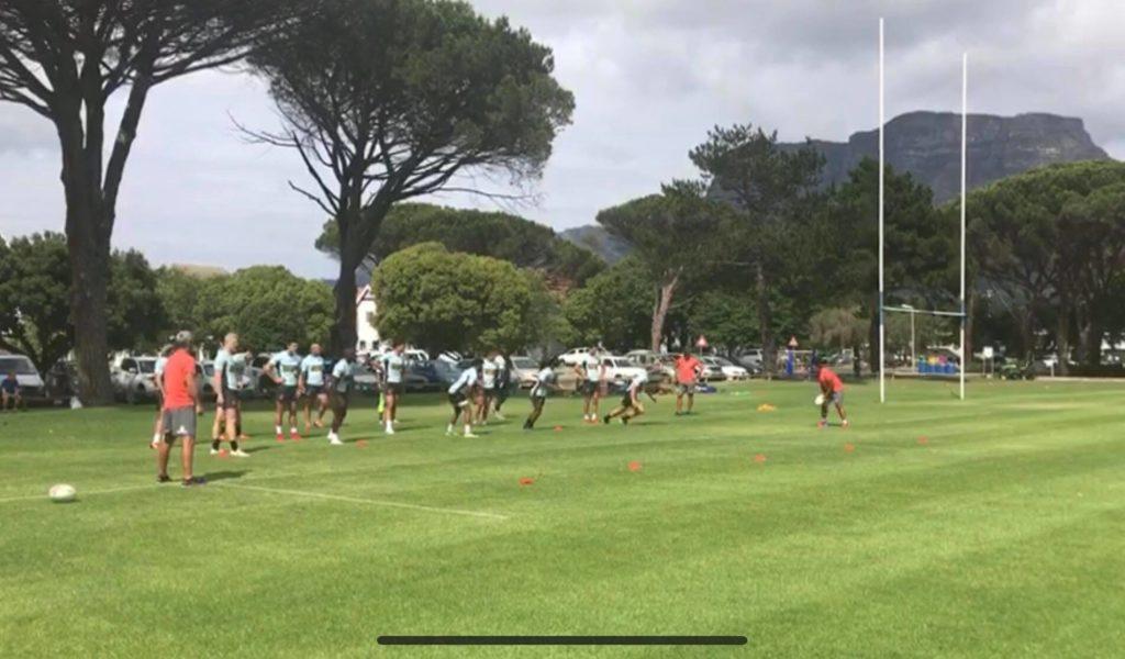 Watch: Blitzboks training