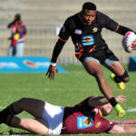 Aphiwe Dyantyi in action for UJ
