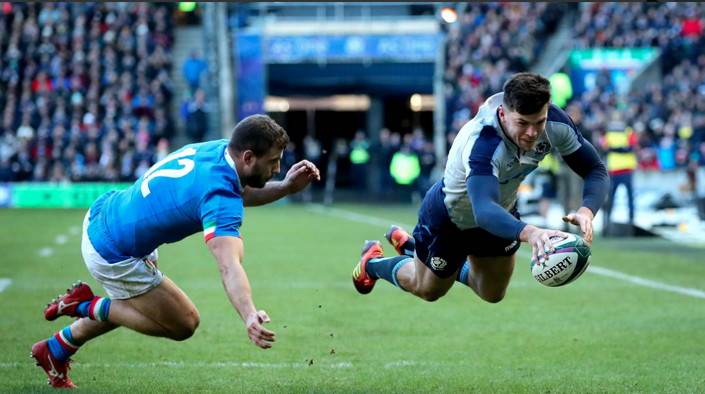 Kinghorn stars as Scots thump Italy