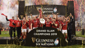Wales celebrate their Six Nations success