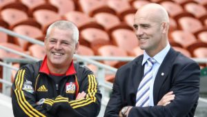 Warren Gatland and John Mitchell in 2007