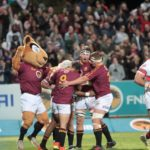 Maties celebrate in the Varsity Cup